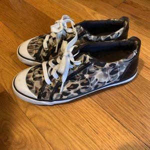 Coach cheetah print sneakers